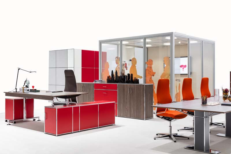 Commercial office furniture. space cube desks filing cubes