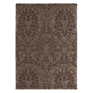 Autumn Flowers Rug in Plum