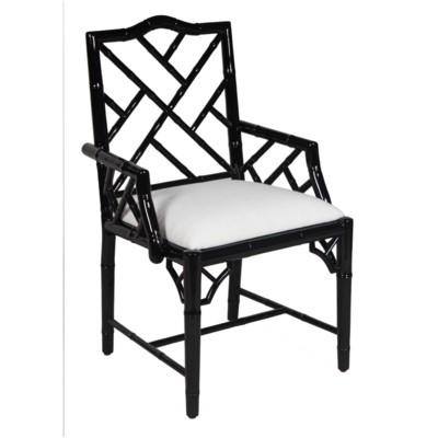 Britton Carver Chair - Black Lacquer