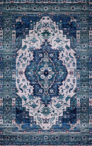 CIELO - IVORY / TURQUOISE - CIE-01 Floor Rug