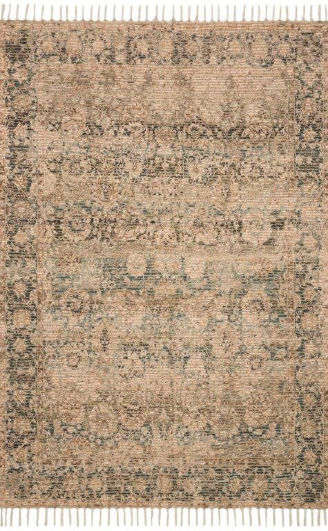 CORNELIA - NATURAL / TEAL - COR-01 Floor Rug