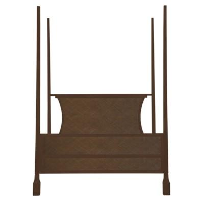Caprice Four-Poster Queen Bed - Hazelnut