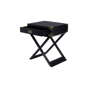 Chiba Side Table - Ebony Lacquer