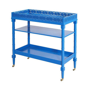Circle Squares Serving Cart - Blue