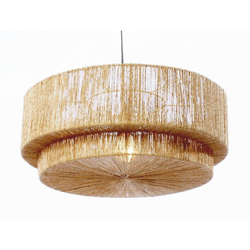 Cocktail 2-Tier Pendant - Jute
