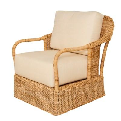 Desmona Wicker Lounge Chair - Natural
