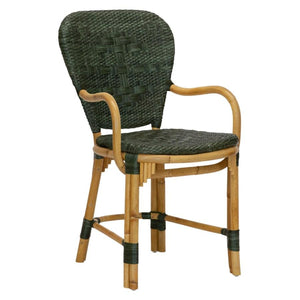 Fota Bistro Arm Chair in Green