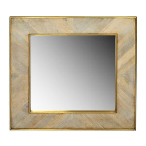 Justinian Square Mirror - White Wash
