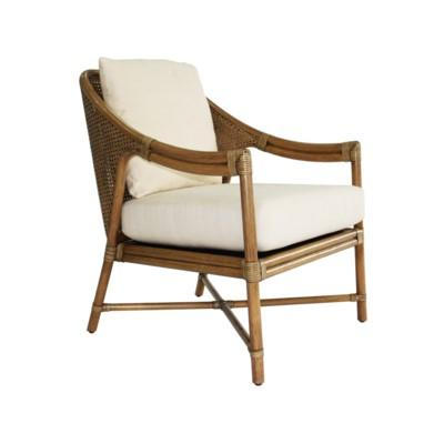 Linwood Lounge Chair, Rattan - Nutmeg