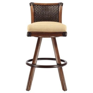 Lucca Barstool - Cinnamon/Espresso (antique brass footrail)