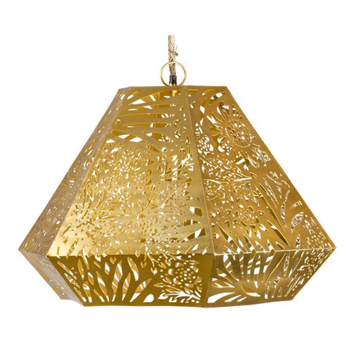 Marigold Diamond Pendant in Brass