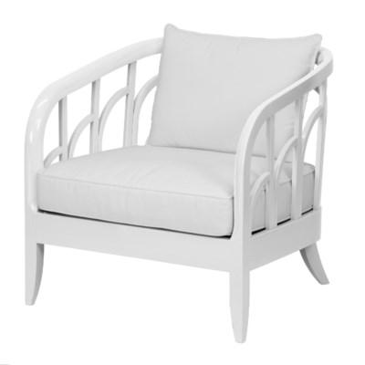 Morgan Lounge Chair in White
