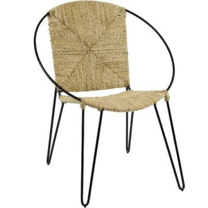 Nadu Chair - Natural with black base
