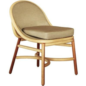 Olema Side Chair - Natural w/ grey fabric