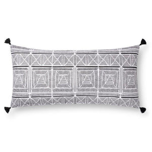 Justina Blakeney Cushion - BLACK / WHITE - P0775