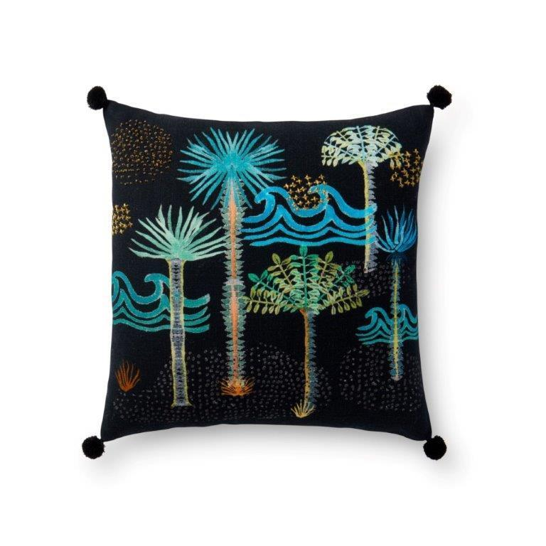 Justina Blakeney Cushion - BLACK / MULTI - P0478