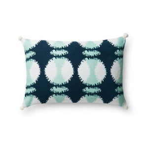 Justina Blakeney Cushion - TEAL / WHITE - P0480