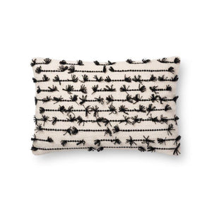 Justina Blakeney Cushion - WHITE / BLACK - P0656