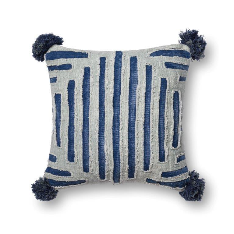 Justina Blakeney Cushion - BLUE / GREY - P0406