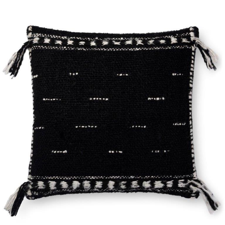 Justina Blakeney Cushion - BLACK - P0661