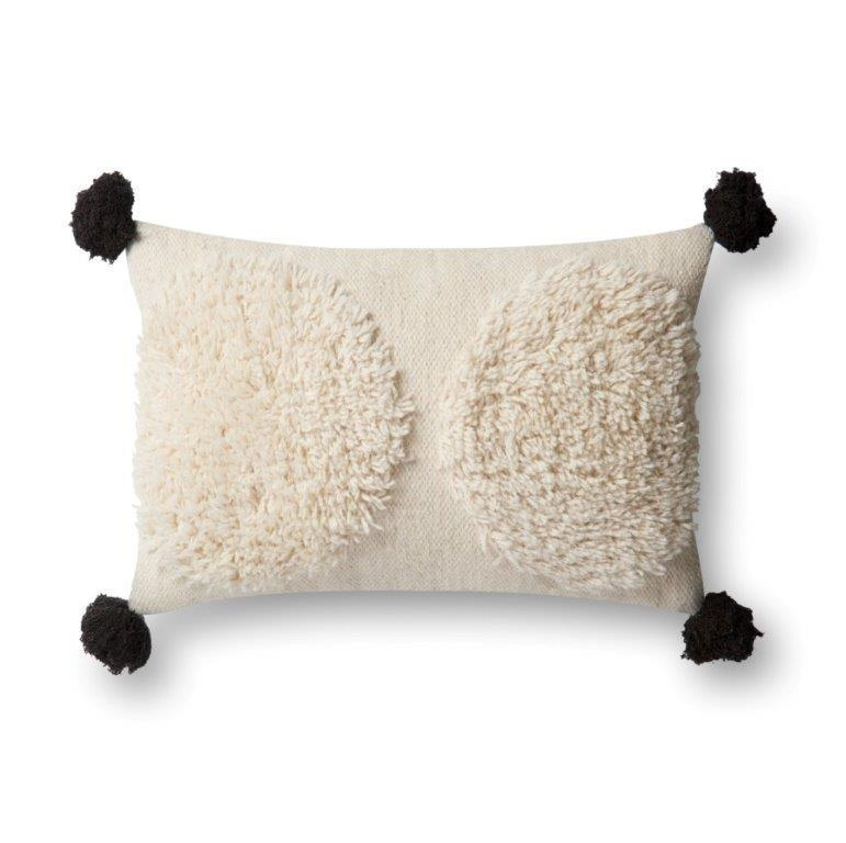 Justina Blakeney Cushion - IVORY / BLACK - P0483