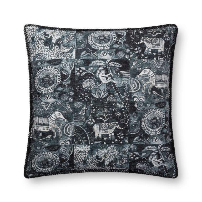 Justina Blakeney Cushion - CHARCOAL - P0781