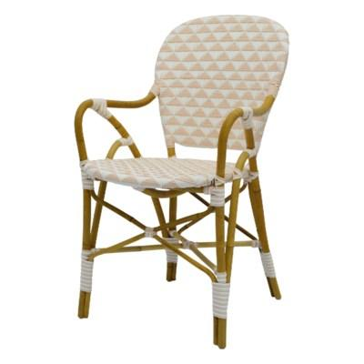 Pinnacles Arm Chair - White/Blush