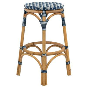 Pinnacles Counter Stool - White/Navy
