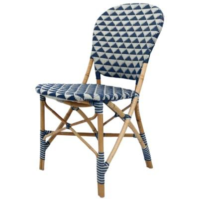 Pinnacles Side Chair - White/Navy
