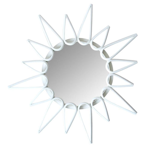 Ray Round Mirror - Espresso Colour