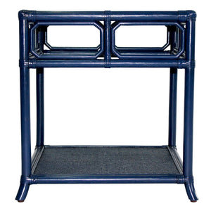 Regeant Side Table w/Glass - Blueberry