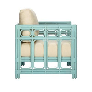 Regeant Lounge Chair, Rattan - Light Blue