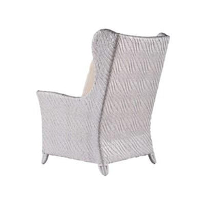 Riva Bergere Chair, Hourglass Weave - Salt