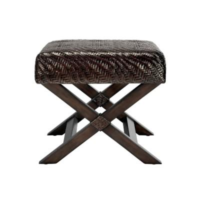 Riva Stool, Hourglass Weave - Pepper