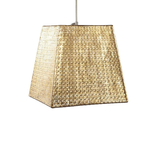 Seline Square Tapered Pendant - Metallic