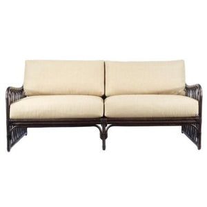 Sona Settee - Clove with Wheatberry Cushion