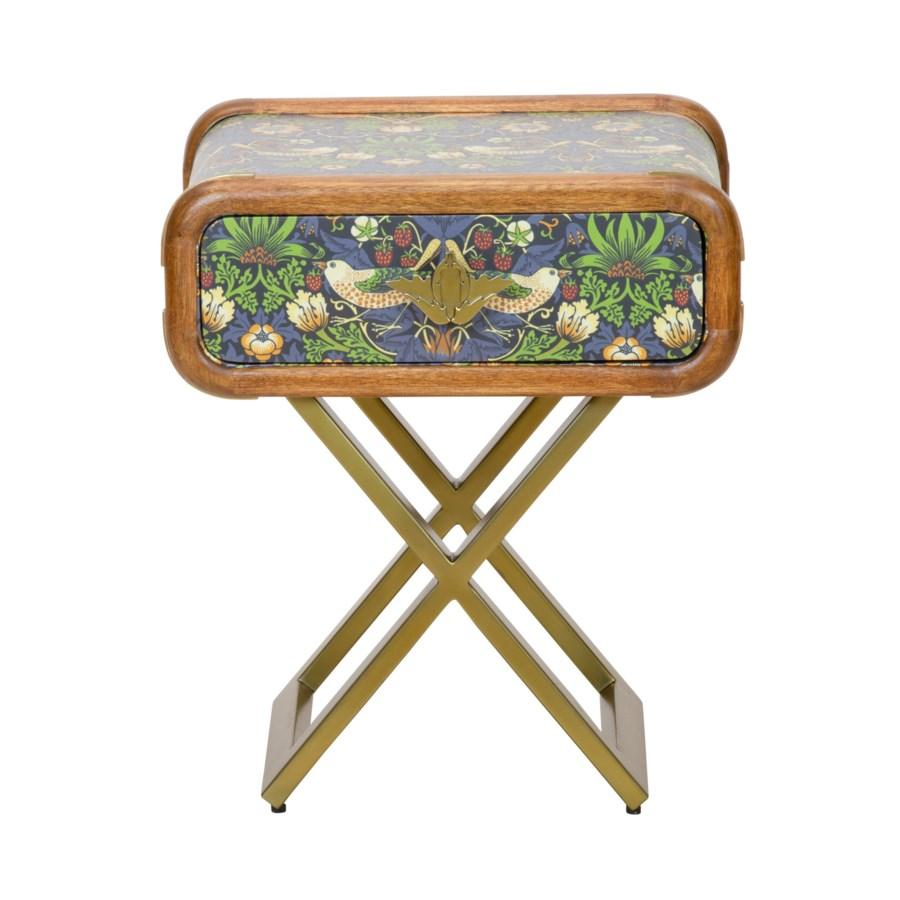 Strawberry Thief Steamer Side Table in Multi