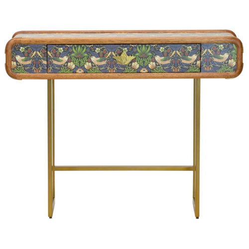 Strawberry Thief Steamer Console Table in Multi