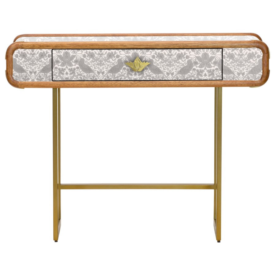 Strawberry Thief Steamer Console Table in Neutral
