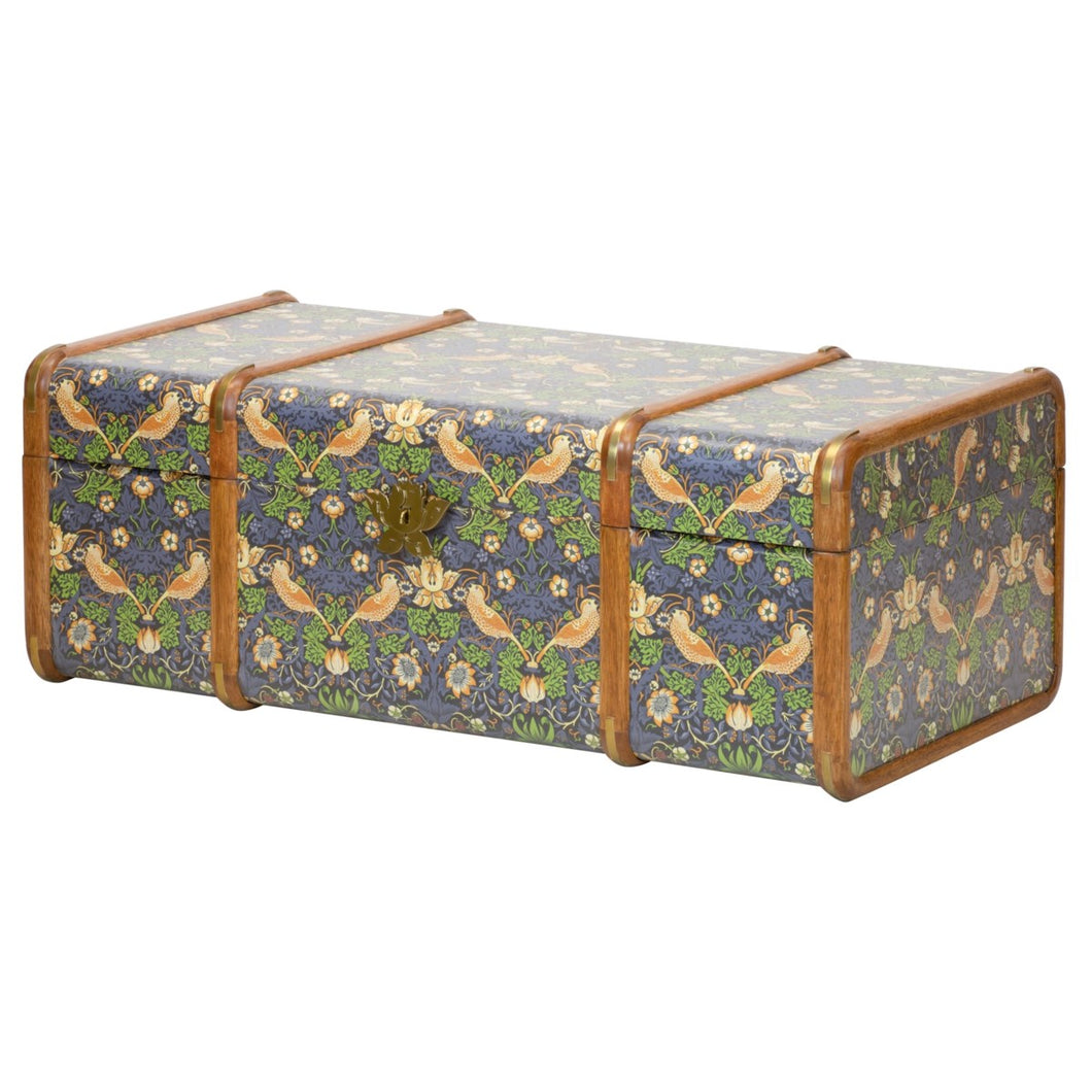 Strawberry Thief Steamer Trunk in Multi