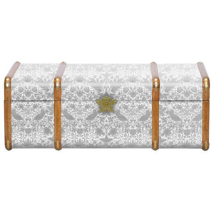 Strawberry Thief Steamer Trunk in Neutral