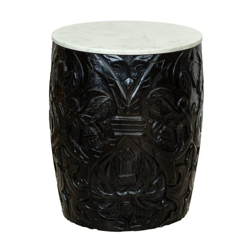 Sydney Mod Pomegranates Side Table in Black