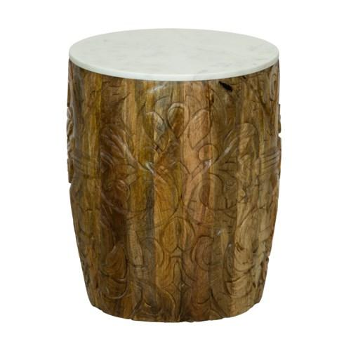 Sydney Mod Pomegranates Side Table in Natural