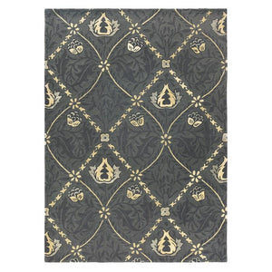 Trellis Rug in Black Ink