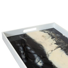 Farallon Rectangular Tray in Black/White