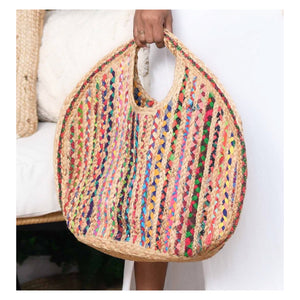 Large multi color tote
