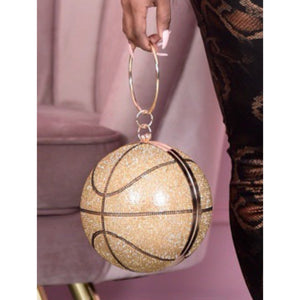 Champagne basketball diamond bag