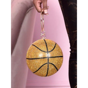 Gold basketball diamond bag