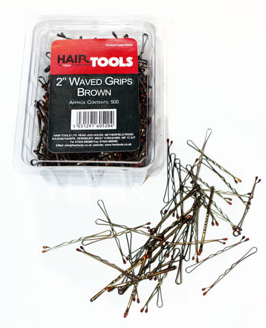 "2"" Waved Grips Brown (Box Of 500) *"