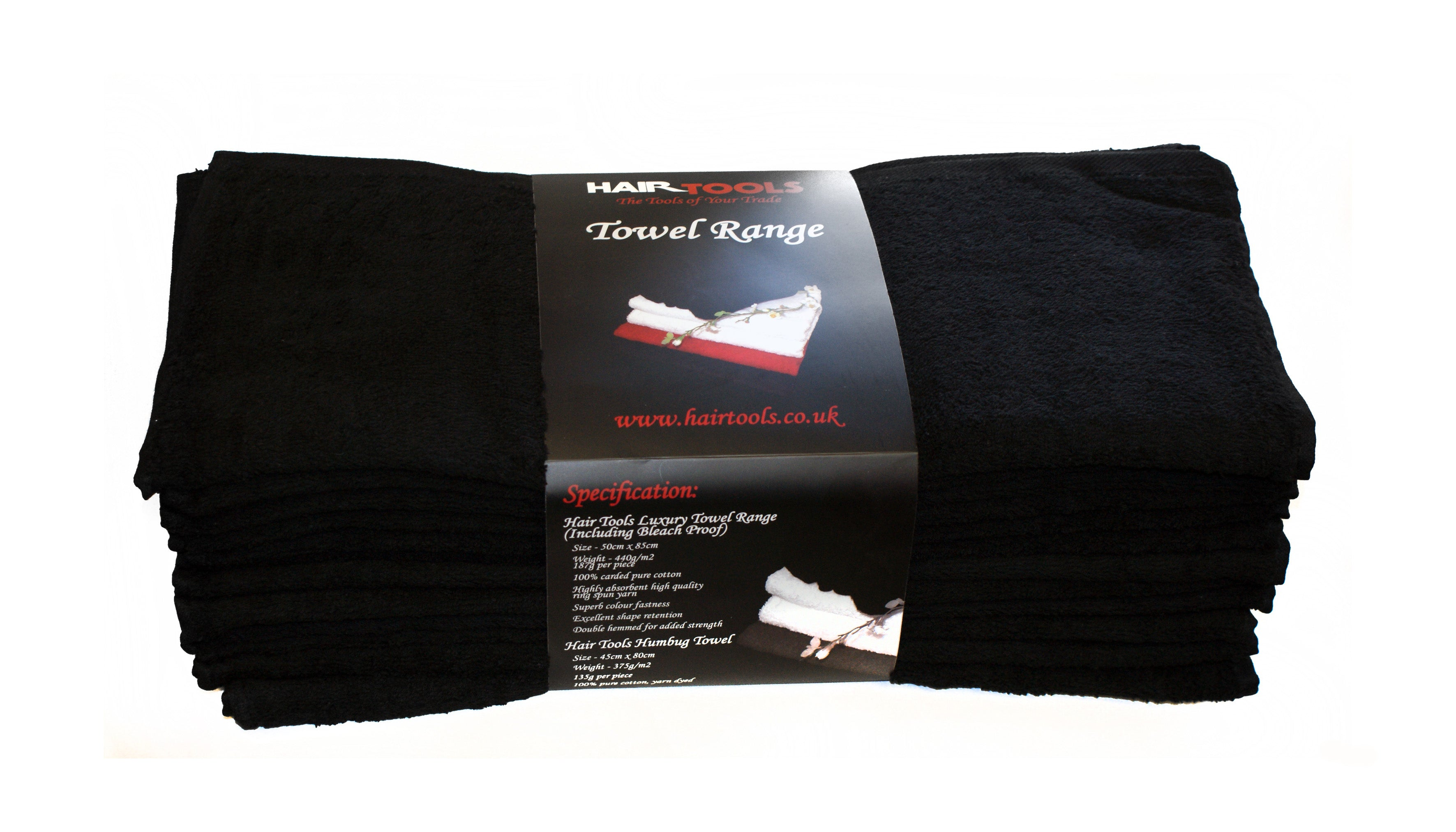 HairTools - Black Towels (12 pack)